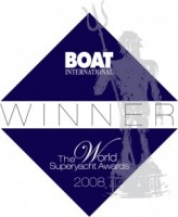 Winners of Best Refit Award for Classic Yacht Restoration Blue Bird of 1938.