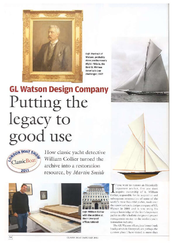 thumbnail of Classic+Boat+January+2011+-+G.L.+Watson+Design+Company
