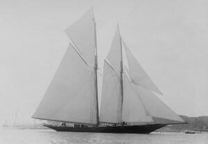 Schooner Rainbow under sail.