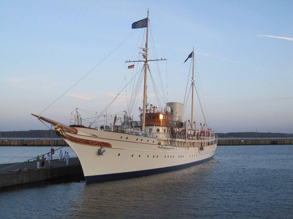 Classic Yacht Nahlin after her restoration
